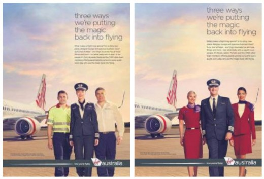 First look at Virgin Australia's New Print Campaign