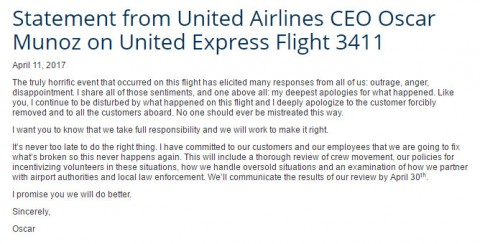 United Airlines Brand Damage