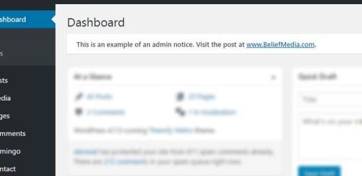 Display WordPress Admin (Plugin Upgrade) Notices