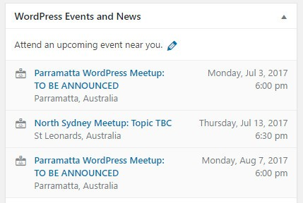 Display WordPress Meetups With Shortcode or a PHP Function