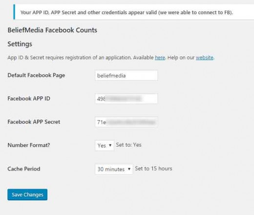 Count Facebook Page Likes with WordPress Shortcode or PHP