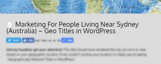 Marketing For People Living Near Ashburn (United States) - Geo Titles in WordPress