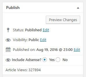 Simple AdSense WordPress Plugin
