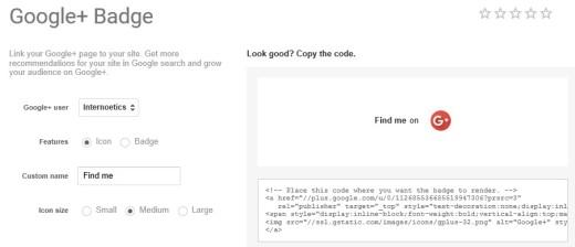 Show a Google+ Static Badge (Icon) in WordPress