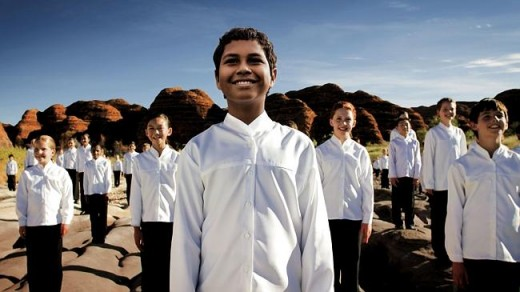 Tyus Arndt fronts the choir in the Purnululu National Park in W.A