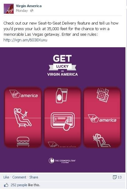 Get Lucky on Your Next Virgin America Flight