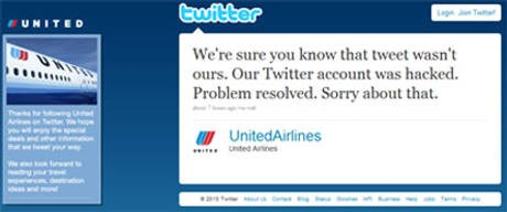 United twitter apology