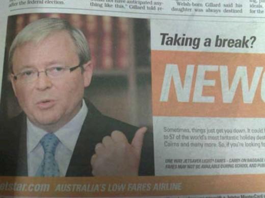 Jetstar's Kevin Rudd Advertisement