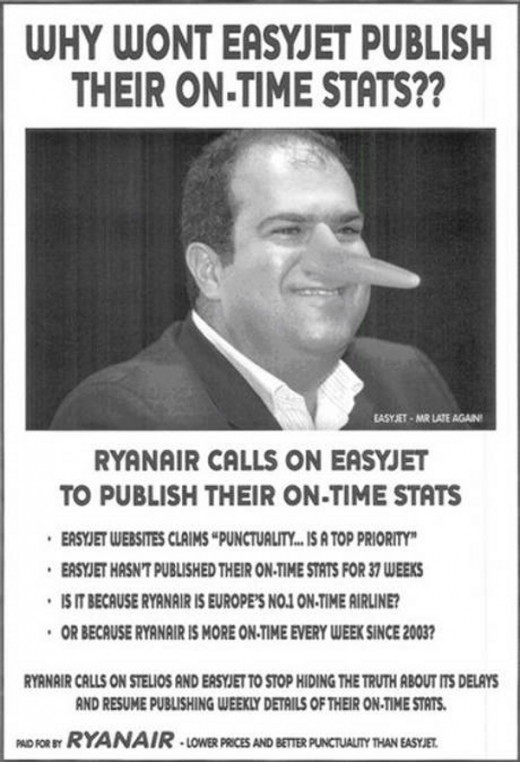 Ryanair advertisement