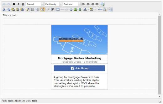 Facebook Group Plugin HTML Code