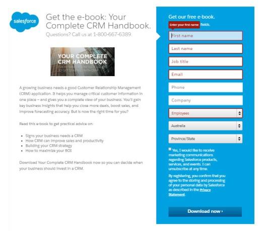 Salesforce CRM Signup