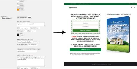 Landing Page Custom Post Type