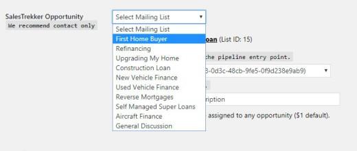 Filtering SalesTrekker Contacts