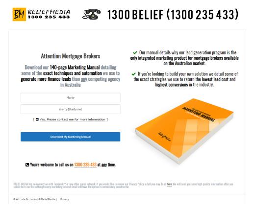 BeliefMedia Landing Page