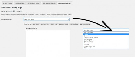 Geographic Content