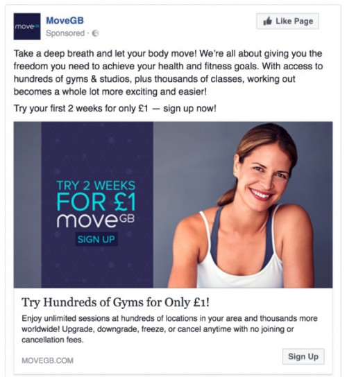 MoveGB Facebook Advert