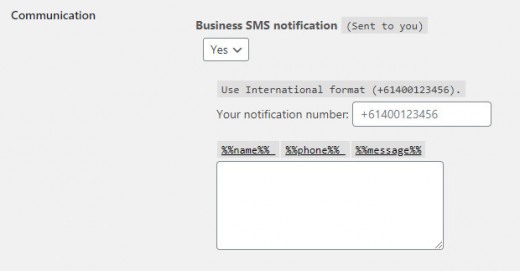 Business SMS Notification