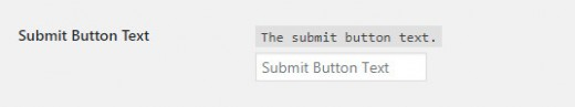Submit Button Text