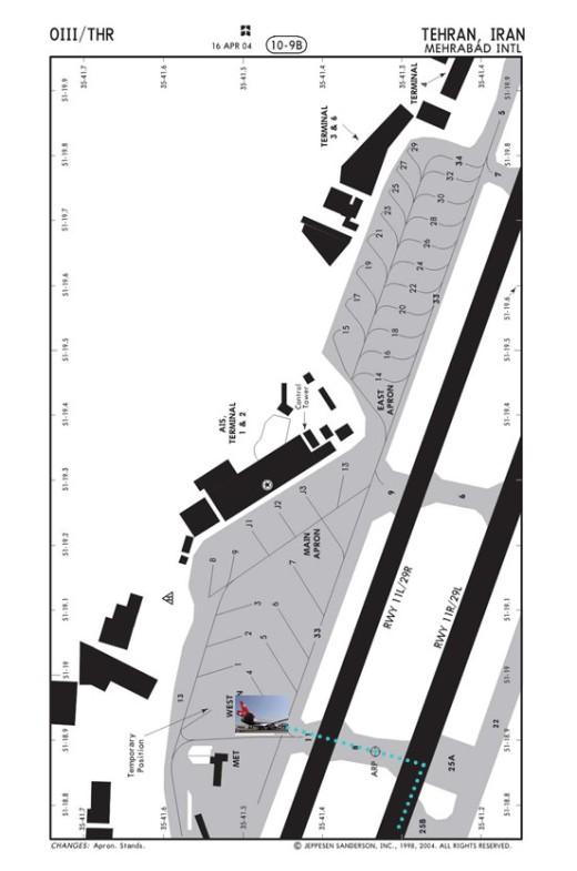 Flight 41 Final Parking Location