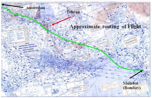 Flight 41 Tehran Route