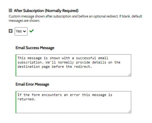 After Subscription Messages