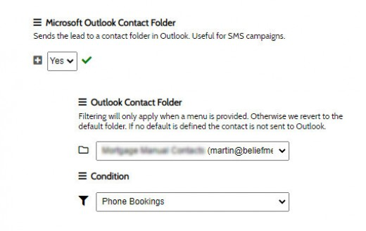 Outlook Contact Folders