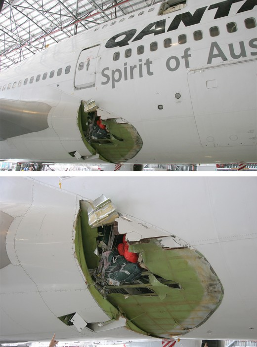 Qantas Flight QF30 Damage