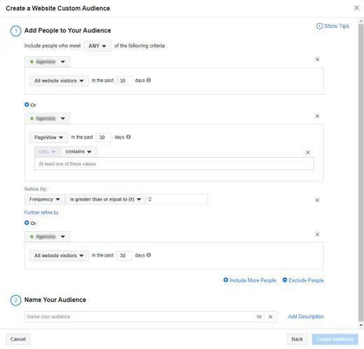 Facebook Audience Creation Tool