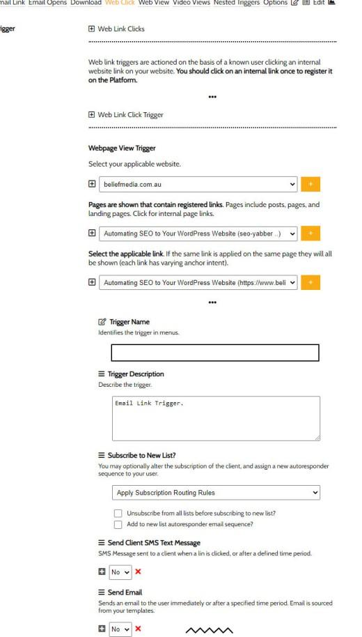 Weblink Triggers