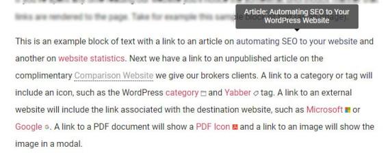 Links in WordPress