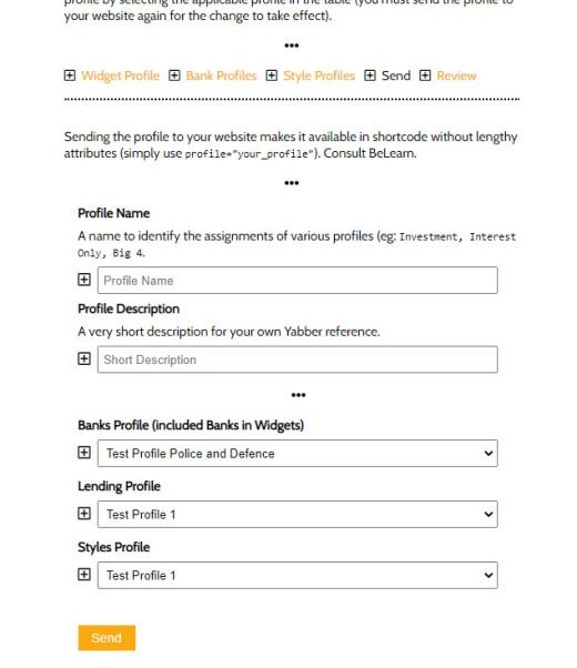 Bank Widgets to Website