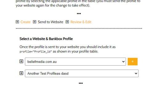 Send Bankbox to Website