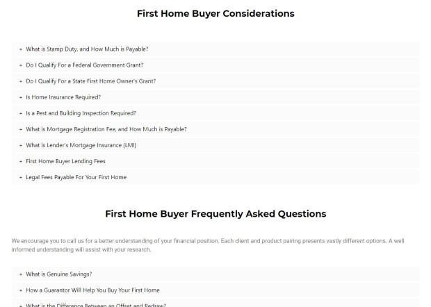 First Home Buyer FAQ