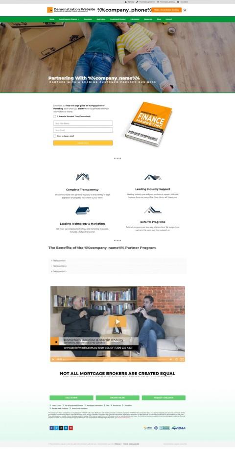 Mortgage Broker Partner Website Module