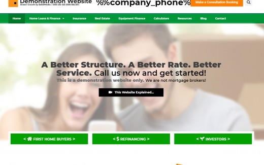 Front Page Website Entry Text
