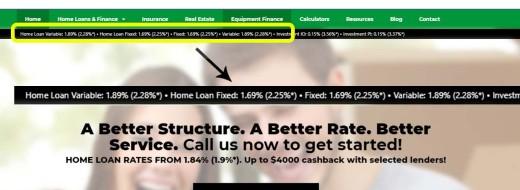 Navigation Bar Interest Rates
