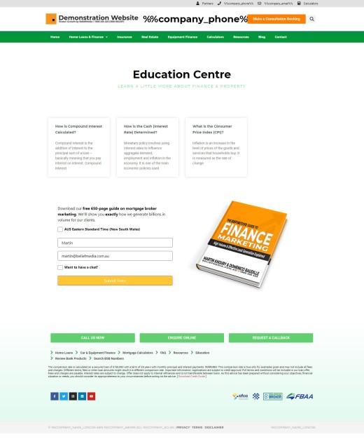 Mortgage Broker Education Module