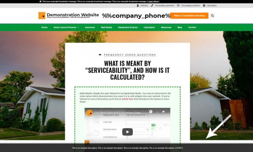 Footer Banner Home Example