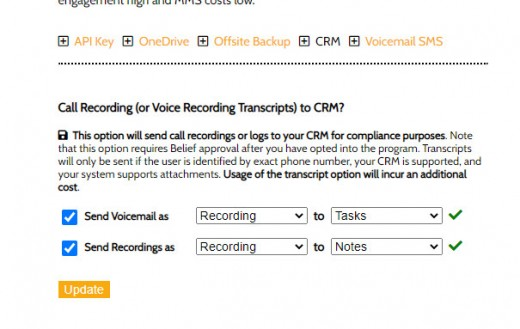 Telco Call Recording and Voicemail