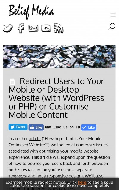 Mobile Design Considerations with WordPress and PHP