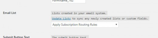 Email Subscription Routing