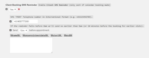 Client Reminder SMS
