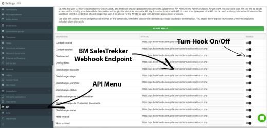 SalesTrekker Webhooks API