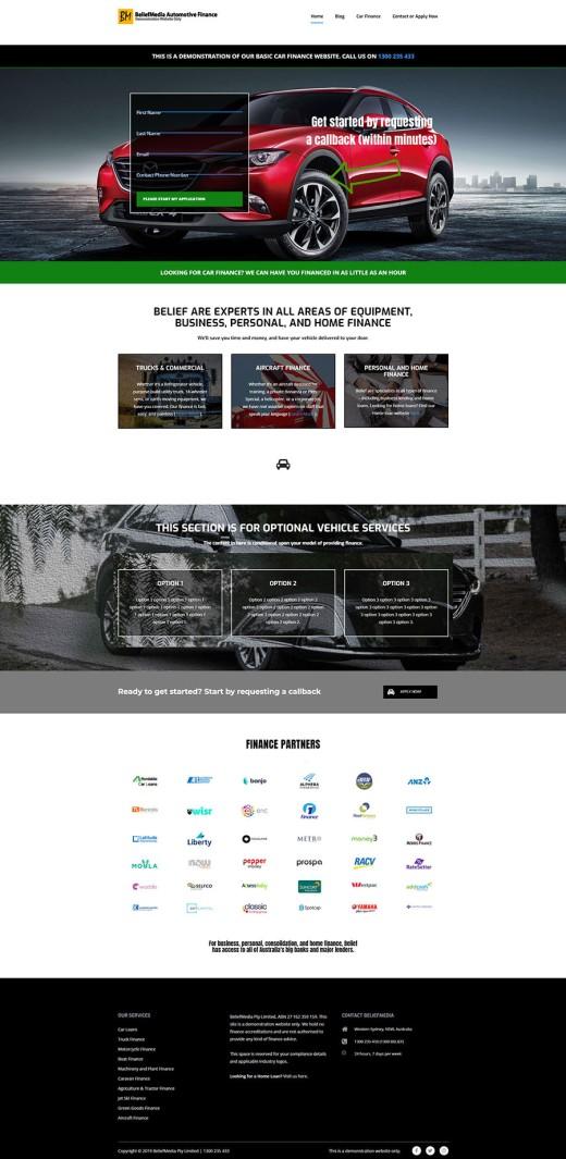 Equipment Finance Website