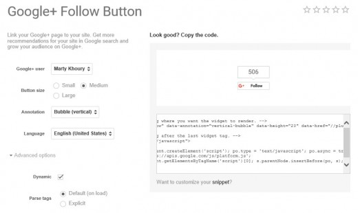 Add a Google Plus Follow Button in WordPress with Shortcode