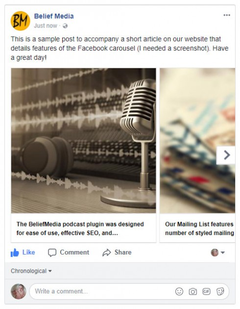 Facebook Carousel Blog Posts