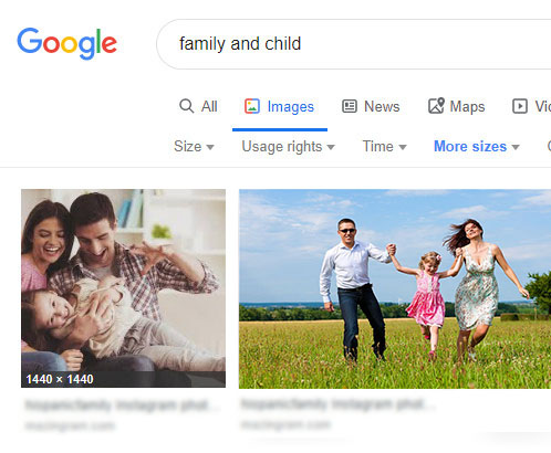 Family and Child – First Google Result
