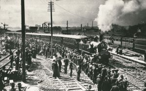 First train leaving new (third) Sydney Station 1906